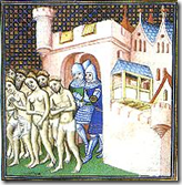 Cathars expelled from Carcassonne in 1209.