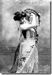 French soprano Emma Calvé as Carmen in George Bizet's opera Carmen